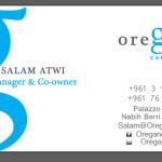 Oregano Cafe - Business card